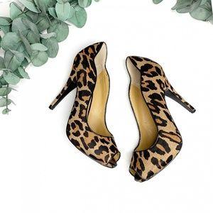 Nine West | Feeling Good Leopard Haircalf Pumps 8M